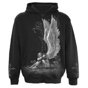 Spiral Men's ENSLAVED ANGEL Full Zip Hoody - Black