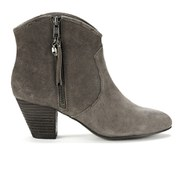 Ash Women's Jess Reverse Broken Suede Heeled Ankle Boots - Topo - 4