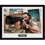 The Walking Dead Rick Gun - 16 Inch x 12 Inch Framed Photographic