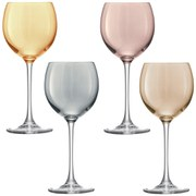 LSA Polka Metallics Wine Glasses  400ml (Set of 4)