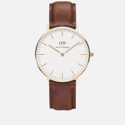 Daniel Wellington Classic St Mawes Rose Watch - Tan
