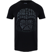 T-Shirt Homme Star Wars Dark Vador Text Head - Noir
