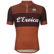 Santini L'Eroica Gaiole 2015 Event Series Techno Polyester Short Sleeve Jersey - Orange