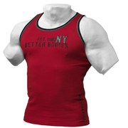 Better Bodies Rib Tank Top - Jester Red/Black