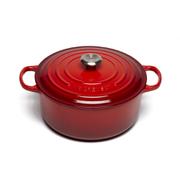 Le Creuset Signature Cast Iron Round Casserole Dish - 28cm - Cerise