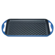 Le Creuset Cast Iron 32.5cm Rectangular Grill - Marseille Blue