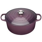 Le Creuset Signature Cast Iron Round Casserole Dish - 24cm - Cassis