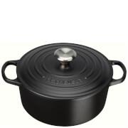 Le Creuset Signature Cast Iron Round Casserole Dish - 24cm - Satin Black