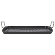 Le Creuset Toughened Non-Stick Ribbed Rectangular Grill Pan - 34cm