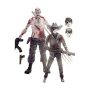 2 Figurines Abraham Ford & Carl Grimes The Walking Dead
