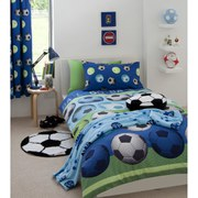 Catherine Lansfield Football Duvet Set - Blue