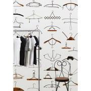 Image of NLXL Obsession Hangers Wallpaper Roll by Daniel Rozensztroch - Multi