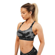 Better Bodies Athlete Short Top - Grey Camoprint