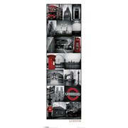 london collage canvas wall art