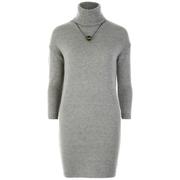 nümph Women's Roll Neck Jumper Dress - Light Grey