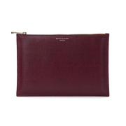 Aspinal of London Womens Essential Large Flat Pouch  Burgundy