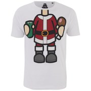 Xplicit Men's Bad Santa Christmas T-Shirt - White