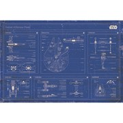 Star Wars Rebel Alliance Fleet Blueprint - 24 x 36 Inches Maxi Poster