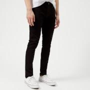 Nudie Jeans Men's Skinny Lin Skinny Jeans - Black Black - W25/L30 - Black