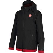 Castelli Meccanico Rain Shell Jacket - Black/Red