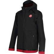 Castelli Meccanico Rain Shell Jacket - Black/Red