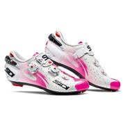 Sidi Womens Wire Carbon Air Vernice Cycling Shoes  WhitePink Fluo  EU 42.5UK 7