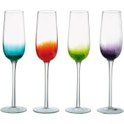 Image of Anton Studio Designs Set of Four Fizz Champagne Flutes