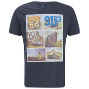 Salvage Men's Route 66 T-Shirt - Navy Marl