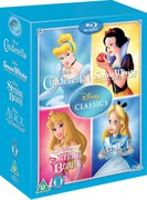 Disney Classics Timeless Classics 4 BD Snow White Cinderella Sleeping Beauty & Alice in Wonderland
