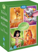 Disney Classics Timeless Classics 4 BD Set 2 Jungle Book, Bambi, Dumbo, Lady & The Tramp
