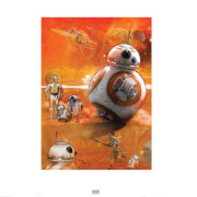 Affiche Star Wars Le Réveil de la Force BB - 8