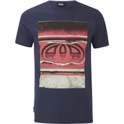 Animal Men's Loffy Graphic Print T-Shirt - Indigo Blue