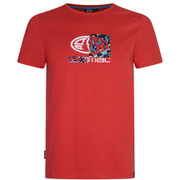 Animal Mens Claw Graphic Print TShirt  Bright Red  M