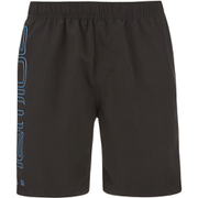 Animal Mens Belos Elasticated Waist Swim Shorts  Black  L