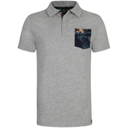 Animal Mens Floral Pocket Nep Polo Shirt  Grey Marl  L
