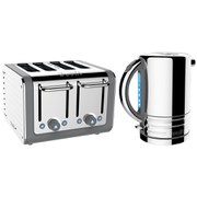 Dualit Architect Kettle and Architect 4 Slot Toaster - Grey