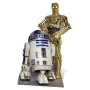 Star Wars The Droids R2-D2 and C-3PO Kartonnen Figuur