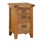 Vancouver Oak VXB001 Two Drawer Bedside Cabinet