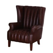 Vintage Aviator One Seater Leather Chair with High Back