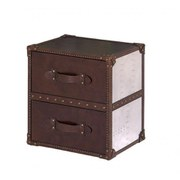 2 Drawer Aluminium Leather Trunk