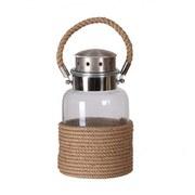 Rope Wrapped Glass Jar Lantern