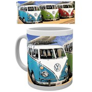 VW Camper Campers Beach - Mug