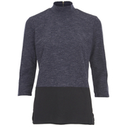 ONLY Women's 3/4 High Neck Zip Top - Night Sky