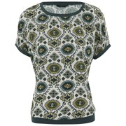 ONLY Women's Amelie Short Sleeve Top - Pumice Stone