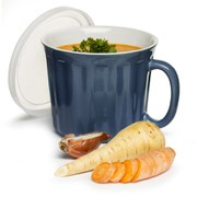Sagaform Soup Mug with Lid - Blue