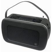Kitsound Jive Retro Portable DAB Radio with Alarm Clock - Black