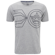 Crosshatch Men's Pegasus Print T-Shirt - Grey Marl