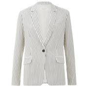 rag & bone Women's Belmar Blazer - Black/White Stripe