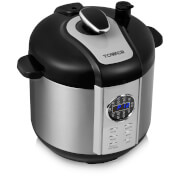 Tower T16005 6L Digital Pressure Cooker - Silver