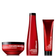Shu Uemura Art of Hair Color Lustre Color Lustre Sulfate Free Shampoo (300ml), Masque (200ml) och Thermo-Milk (150ml)